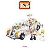 摩比小兔~LOZ mini 鑽石積木-1119 婚禮車/蜜月車 腦力激盪 益智玩具 鑽石積木 積木 親子