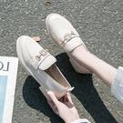 單鞋女春款新款樂福鞋子韓版水鉆扣漆皮網紅圓頭厚底小 洛小仙女鞋