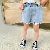 韓國女童牛仔短褲薄款2020夏裝新款女寶寶百搭兒童褲子休閑褲外穿洋氣【居享優品】
