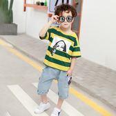 夏裝新款套裝純棉T恤韓版夏季兒童運動兩件套 QQ262『優童屋』