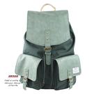 墨綠日式帆布束口後背包   AMINAH~【am-0249】