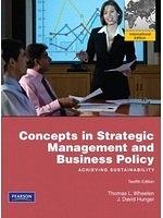 二手書 Concepts in Strategic Management and Business Policy: Achieving Sustainability. Thomas L. Wh R2Y 9780135097564