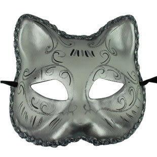 威尼斯面具 歐式臉譜  貓臉紙漿彩繪