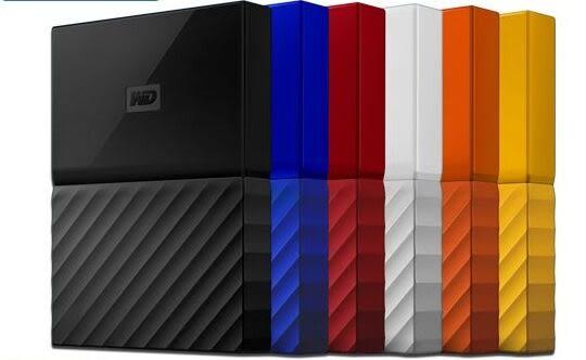 WD My Passport 1TB 2.5吋行動硬碟(WESN) (黑/藍/橘/紅/白/黃)【刷卡含稅價】