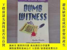 二手書博民逛書店英文書;罕見DUMB WITNESS 無言的證人 (36開)Y1