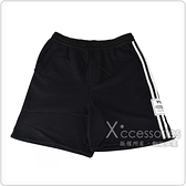 Y-3側邊字母LOGO經典白條紋設計純棉運動短褲(黑)