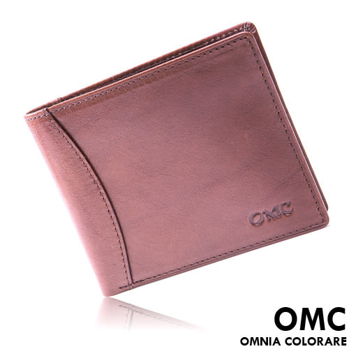 OMC - 原皮工藝薄型真皮8卡左右翻短夾