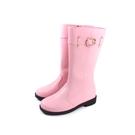 靴子 中筒靴 粉紅色 童鞋 no178