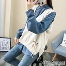 韓版寬鬆大V領針織馬甲外穿春秋季2019新款毛衣無袖背心外搭女裝『新佰數位屋』
