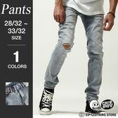 刷破褲窄管牛仔褲