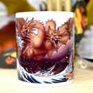 哥吉拉勁敵 三頭龍 基多拉 馬克杯 附彩盒 日本販售正版品 KING GHIDORAH 浮世繪風