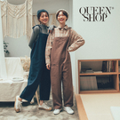 Queen Shop【04050606】細肩綁帶吊帶連身褲 兩色售*現+預*