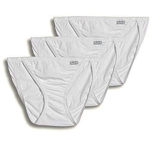 Jockey 女全棉BIKINI 3件組三角內褲(白色)