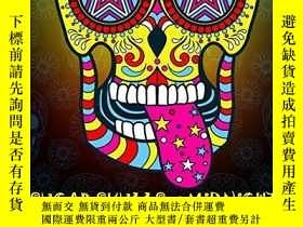 二手書博民逛書店Sugar罕見Skulls at Midnight Adult Coloring Book: A Dia de L