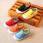 兒童帆布鞋男童女童寶寶單鞋小童布鞋子1-3歲2板鞋潮   居家物語