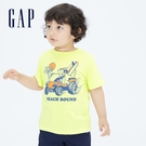 Gap男幼童 布萊納系列 純棉動物印花短袖T恤 697993-黃色