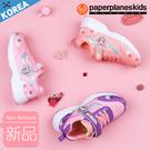 PAPERPLANES 紙飛機 韓國空運 粉色公主系可愛兔兔 拼接魔鬼氈休閒鞋【B7907008】3色