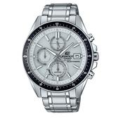 【CASIO】 EDIFICE 三眼三針藍寶石太陽能不鏽鋼腕錶-白(EFS-S510D-7A)