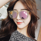太陽眼鏡 時尚網紅橢圓個性鏤空大框箭頭墨鏡【O3304】☆雙兒網☆