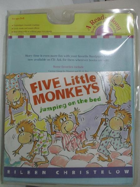 【書寶二手書T1/少年童書_DMU】Five Little Monkeys Jumping on the Bed_附光碟