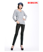 【BOBSON】女款燒花布長袖上衣(33093-82)