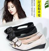 魚嘴涼鞋 夏季新款涼鞋平底中跟舒適坡跟時尚 sxx2651 【大尺碼女王】