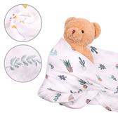 紗布包巾竹纖維浴巾 卡通印花嬰兒蓋毯空調被推車毯-JoyBaby