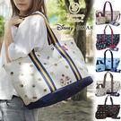 日本迪士尼米奇斜背包手提包肩背包媽媽包旅...