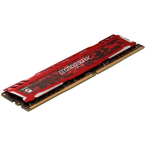 【9折專區】 Micron 美光 Ballistix Sport LT 競技版 DDR4 3200 16GB RAM 記憶體 紅色散熱片 BLS16G4D32AESE