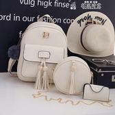 女包子母包背包後背包女百搭小清新可愛韓版甜美少女皮質校園學院風學生書包