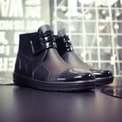 雨鞋 男士雨鞋加絨時尚雨靴短筒水鞋男廚房防水鞋膠靴男鞋工作鞋廚師鞋