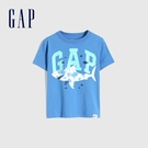 Gap男幼童 布萊納系列 Logo童趣圓領短袖T恤 671201-藍色