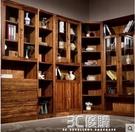 書架 雅依格全實木書櫃 非洲烏金木書櫥現代中式自由組合書櫃書架SG744 3C優購HM