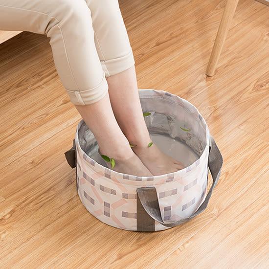 ✭米菈生活館✭【J159】雅緻春之語系列可折疊水桶包 印花 出國 便攜 旅行 收納 洗衣服