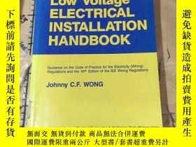 二手書博民逛書店Low罕見Voltage ELECTRICAL INSTALLA
