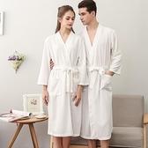 浴袍 夏天薄款浴袍浴衣吸水速干加肥加大情侶睡衣中長款男女士睡袍和服  美物 99免運