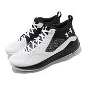 Under Armour 籃球鞋 UA Lockdown 5 白 黑 男鞋 避震 中筒 運動鞋 男鞋【ACS】 3023949100