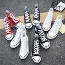 帆布鞋高幫帆布女鞋夏季薄款韓版百搭ulzzang2020新款學生布鞋小白板鞋 快速出貨