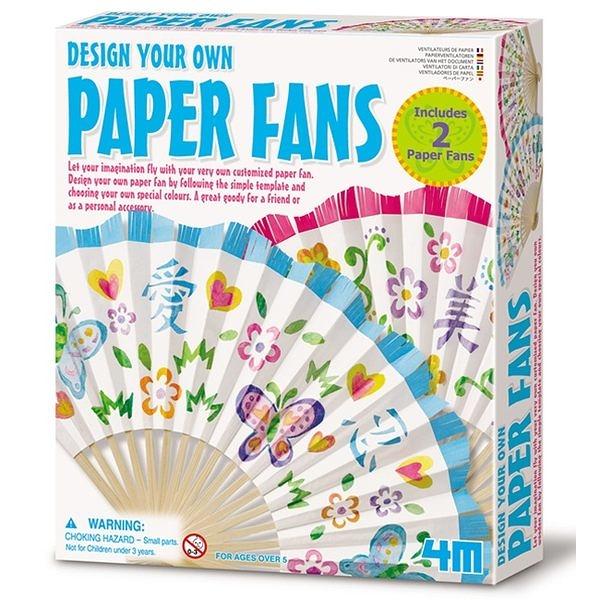 《4M美勞創作》DISIGN YOUR OWN PAPER FANS 藝術花扇 ╭★ JOYBUS玩具百貨