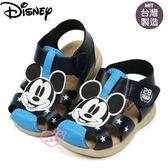 ♥小花花日本精品♥迪士尼藍色米奇大頭造型前包式涼鞋輕便鞋外出方便暑假出遊必備藍色款118140