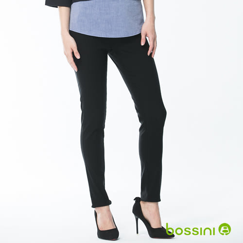 超彈窄管褲18黑-bossini女裝