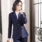 細格紋高質感OL長袖西裝外套 [9X446-PF]美之札