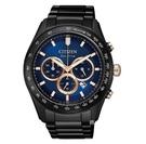 CITIZEN 星辰 光動能三眼計時手錶 CA4458-88L