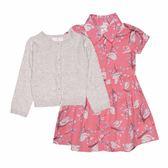 Carter s卡特 針織薄外套+短袖洋裝+套裝三件組 灰色   女寶寶   北投之家童裝【CA121G883】