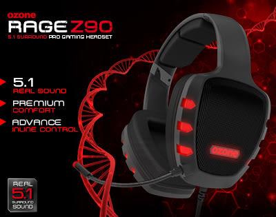 [地瓜球@] Ozone Rage Z90 USB 5.1聲道 電競 耳機 麥克風