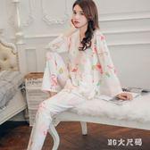 大尺碼孕婦月子服 新款哺乳月子服產后孕婦睡衣秋裝純棉喂奶衣QQ8304『MG大尺碼』