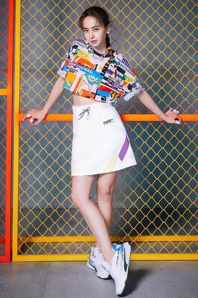 PUMA 蔡依林代言著用款 女款白色運動短裙-NO.59968902