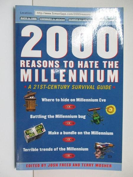 【書寶二手書T1/原文小說_CIS】2000 Reasons to Hate the Millennium_Freed