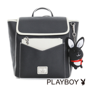 PLAYBOY- 翻蓋後背包 Firefly 螢火蟲狂想系列-經典黑白
