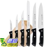 [104美國直購] 廚房 刀具 七件組 含木座 18.7528.9990 WMF 7-Piece Classic Knife Set with Block